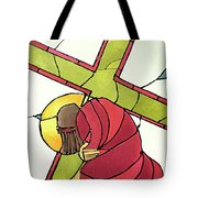 Stations Of The Cross - 07 Jesus Falls A Second Time - Mmjti Tote Bag