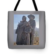 Statuary Dedicated To The American Indian Tote Bag
