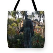 Statue At Mission Carmel Tote Bag