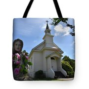 Statue At St. Mary's Church Tote Bag