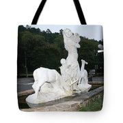 Statue In Front Of Arlington Hotel, Hot Springs, Ar Tote Bag