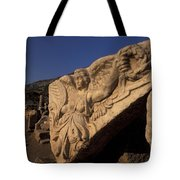 Statue In The Temple Of Domitian Tote Bag