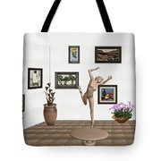 Statue Of A Dancing Girl On Ice 2 Tote Bag