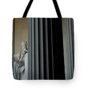Statue Of Abraham Lincoln Is Seen Tote Bag