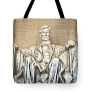 Statue Of Abraham Lincoln - Lincoln Memorial #3 Tote Bag