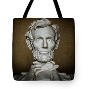 Statue Of Abraham Lincoln - Lincoln Memorial #7 Tote Bag