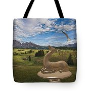 Statue Of Deer 3 Tote Bag