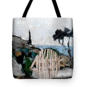 Statue Of Fish From Branches Tote Bag