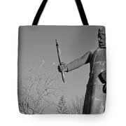 Statue Of King Afonso The Third. Portugal Tote Bag