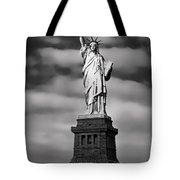 Statue Of Liberty At Dusk Tote Bag