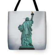 Statue Of Liberty Back Tote Bag
