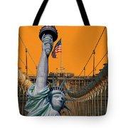 Statue Of Liberty - Brooklyn Bridge Tote Bag