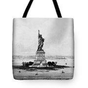 Statue Of Liberty, C1886 Tote Bag