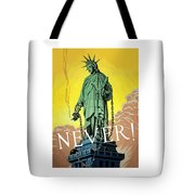 Statue Of Liberty In Chains -- Never Tote Bag