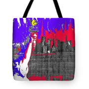 Statue Of Liberty Nyc Skyline 1967-2016 Tote Bag