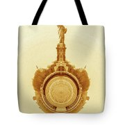 Statue Of Liberty Old Yellow World Tote Bag