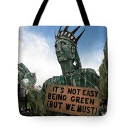 Statue Of Liberty Street Puppet At Political Demonstration Tote Bag