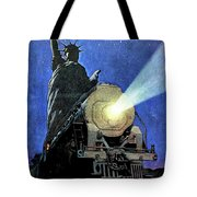 Statue Of Liberty With Steam Train, We Shall Not Fail Tote Bag