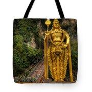 Statue Of Murugan Tote Bag by Adrian Evans