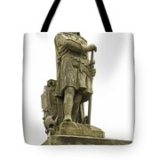 Statue Of Robert The Bruce Stirling Castle Tote Bag