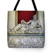 Statue Of The Greek River God Tiberinus At The Vatican Museum Tote Bag