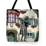 Statue Of Young Wolfgang Amadeus Mozart In St. Gilgen, Austria Tote Bag