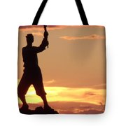 Statue On Cemerty Ridge Tote Bag