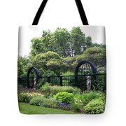 Statues In A Garden Tote Bag