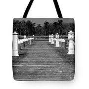 Stay Between The Lines Bw Tote Bag
