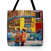 Ste. Catherine Street Montreal Tote Bag
