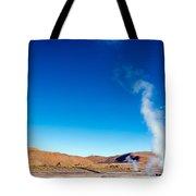 Steam At El Tatio Geysers Tote Bag