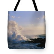 Steam Cloud And Lava Tote Bag
