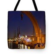 Steam Crane And Cranes, Bristol Harbour Tote Bag