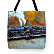 Steam Engine Tilt Shift Tote Bag