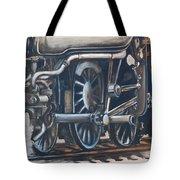 Steam Engine Wheels Tote Bag
