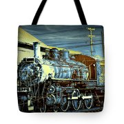 Steam Locomotive Train Engine No.1395 In Infrared Tote Bag