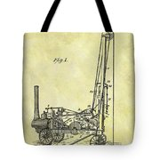 Steam Powered Oil Well Patent Tote Bag