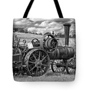 Steam Powered Tractor - Paint Bw Tote Bag