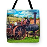 Steam Powered Tractor - Paint Tote Bag