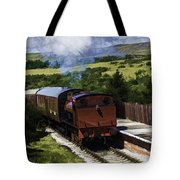 Steam Train 2 Oil Painting Effect Tote Bag