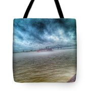 Steamboat In The Fog Tote Bag