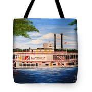 Steamboat On The Mississippi Tote Bag