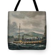 Steamboat Travel On The Hudson River Tote Bag