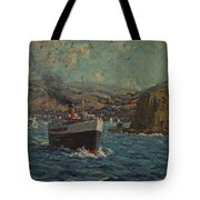 Steamer Leaving Avalon. Catalina Island Tote Bag