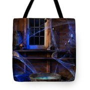 Steaming Cauldron In A Witch Cabin Tote Bag