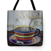 Steaming Coffee  Tote Bag