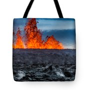 Steaming Lava And Plumes Tote Bag