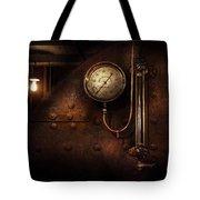 Steampunk - Boiler Gauge Tote Bag by Mike Savad