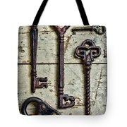 Steampunk - Old Skeleton Keys Tote Bag