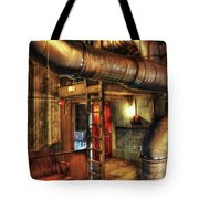 Steampunk - Where The Pipes Go Tote Bag